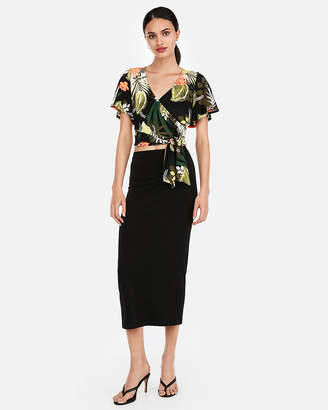 Express One Eleven Tropical Flutter Sleeve Tee