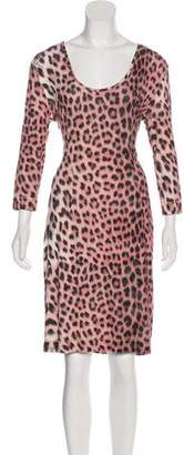Just Cavalli Knee-Length Short Sleeve Dress