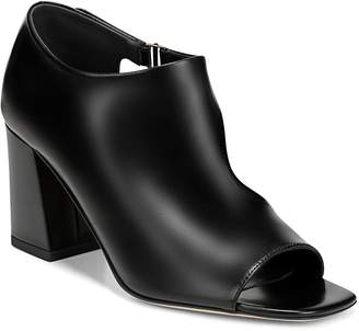 Via Spiga Women's Eladine Open-Toe Leather Booties