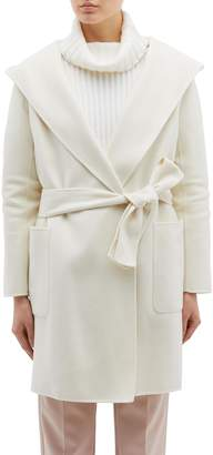 EQUIL 'Nuuk' belted hooded wool-cashmere melton coat