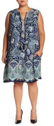 Daniel Rainn DR2 by Sleeveless Embroidered Tank Dress (Plus Size)