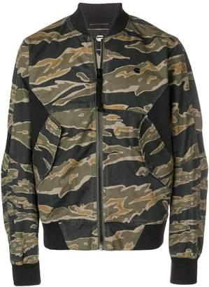 G Star G-Star camouflage print bomber jacket