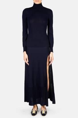Jacquemus La Robe Baya Turtleneck Dress - Dark Navy