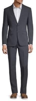 Calvin Klein Two-Piece Mini Check Wool Suit