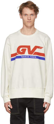 Givenchy White GV World Tour Sweatshirt