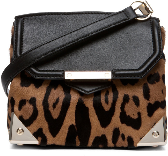 Alexander Wang Marion Leopard Print Satchel in Natural