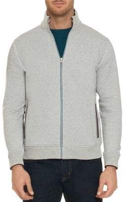 Robert Graham Knowles Cotton Fleece Zip Cardigan