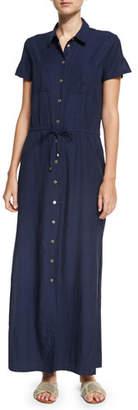 Heidi Klein Hamptons Maxi Shirtdress, Blue $320 thestylecure.com