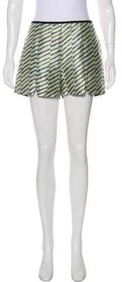 Porter Grey Printed High-Rise Shorts