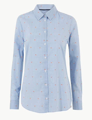 Marks and Spencer Pure Cotton Striped Shirt