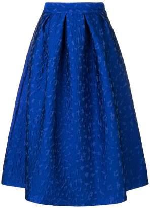 P.A.R.O.S.H. leopard cloqué skirt