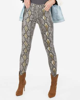 Express High Waisted Snakeskin Print Leggings