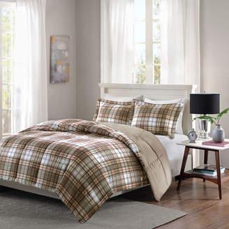 Hartford MADISON PARK ESSENTIALS Madison Park Essentials Navy Plaid Down-Alternative Comforter Set