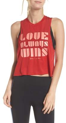 Spiritual Gangster Spritual Gangster Love Always Wins Crop Tank