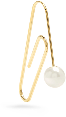 HILLIER BARTLEY Embellished gold-plated paperclip earring