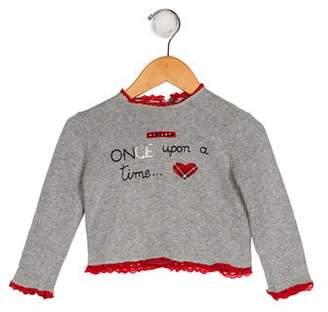 MonnaLisa Girls' Embellished Knit Top w/ Tags