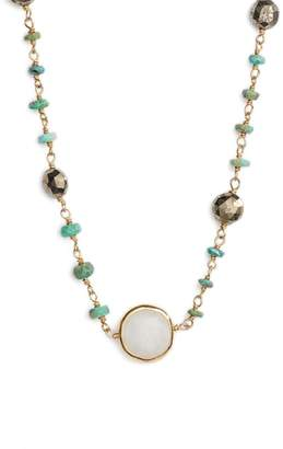 ela rae Semiprecious Stone Collar Necklace