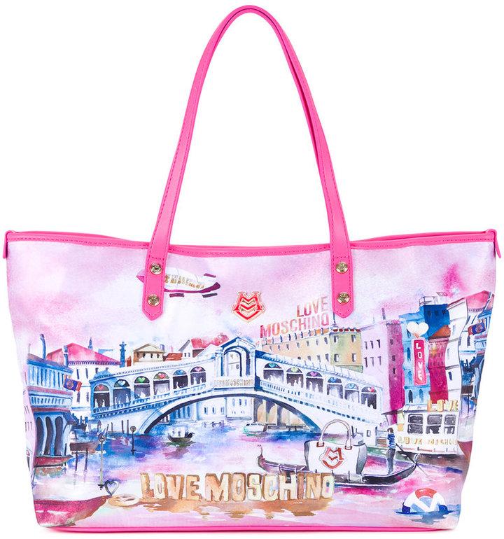 Love MoschinoLove Moschino Venice print tote