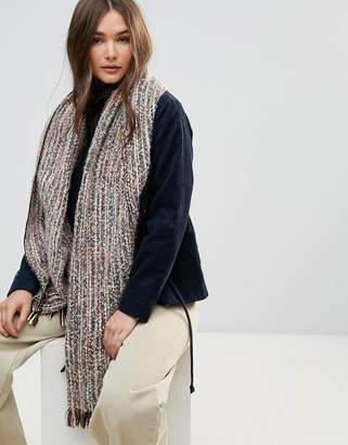 Lavand Multi Color Chunky Oversized Knitted Scarf