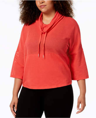 Calvin Klein Plus Size Cowl-Neck Cropped Top