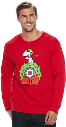 Big & Tall Peanuts Snoopy Flying Ace Fleece Holiday Sweatshirt