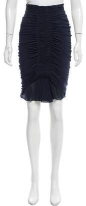 Zac Posen Silk Knee-Length Skirt