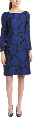 Oscar de la Renta Silk-Lined Shift Dress