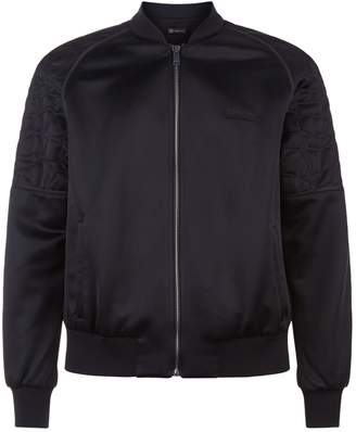 Versace Quilted Crocodile Bomber Jacket