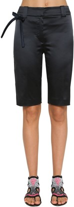 Prada Stretch Silk Blend Duchesse Shorts