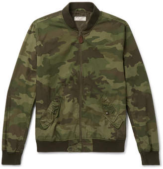 J.Crew Wallace & Barnes Camouflage-Print Cotton-Ripstop Bomber Jacket