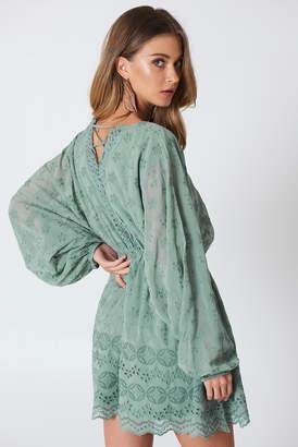 Na Kd Boho Lace Up Lace Dress