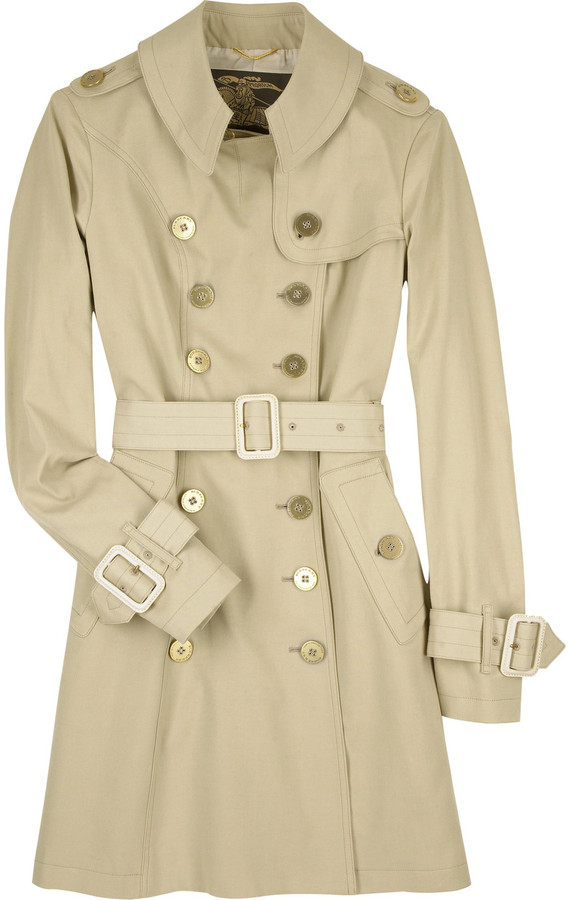 Burberry Prorsum Gold buttoned trench coat
