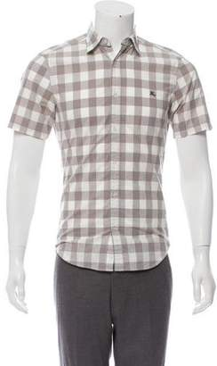 Burberry Gingham Short Sleeve Shirt