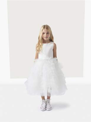 Oscar de la Renta Silk Faille Tutu Flower Girl Dress