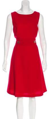 Tahari Sleeveless Midi Dress