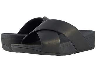 FitFlop Lulu Cross Slide Leather Sandal