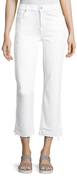 7 For All Mankind7 For All Mankind The Kiki Jeans W/ Released Hem, White
