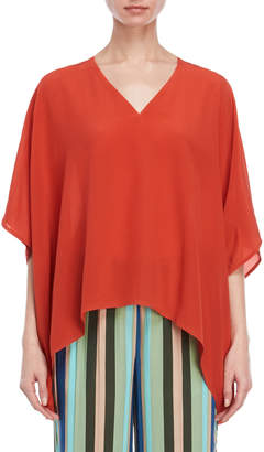 Liviana Conti V-Neck Silk Blouse