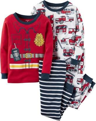 Carter's Baby Boys 4-pc. Fireman Pajama Set