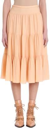Chloé Peach Silk Skirt