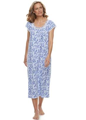 Croft & Barrow Women's Printed Lace Trim Nightgown