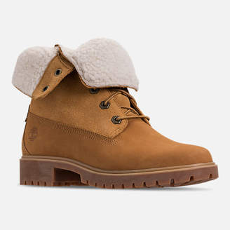 Timberland Women's Jayne Waterproof Fleece Fold-Down Boots