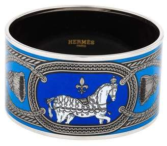Hermes Extra Wide Enamel Bracelet
