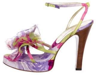 Dolce & Gabbana Floral Satin Sandals