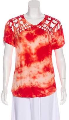 Isabel Marant Tie-Dye Cutout Top