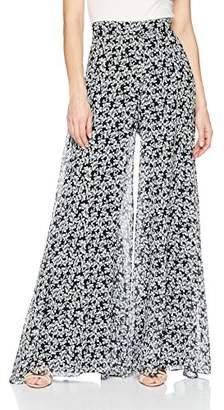 Nicole Miller Women's Hibiscus Canopy Wide Leg Pants