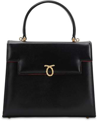 Launer Traviata Smooth Leather Bag