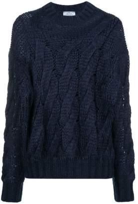 Prada cable-knit jumper