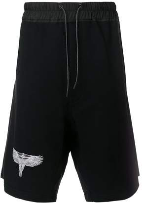 Marcelo Burlon County of Milan eagle print track shorts