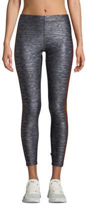Terez Cropped Side-Stripe Performance Leggings